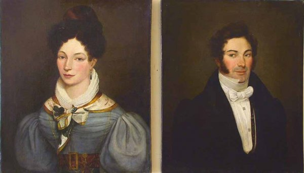 130: Pair Of 18th / 19th Century O/C Portrait Paintings