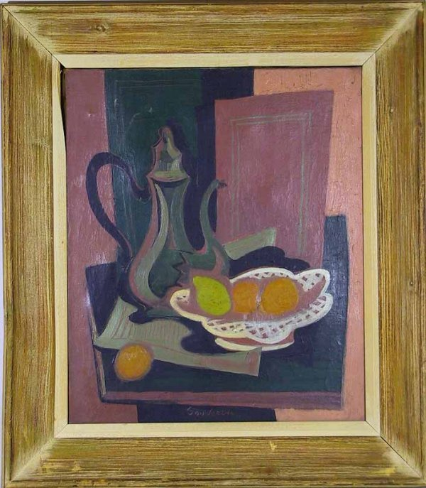 134: French O/C Still Life Painting Signed Souverbie