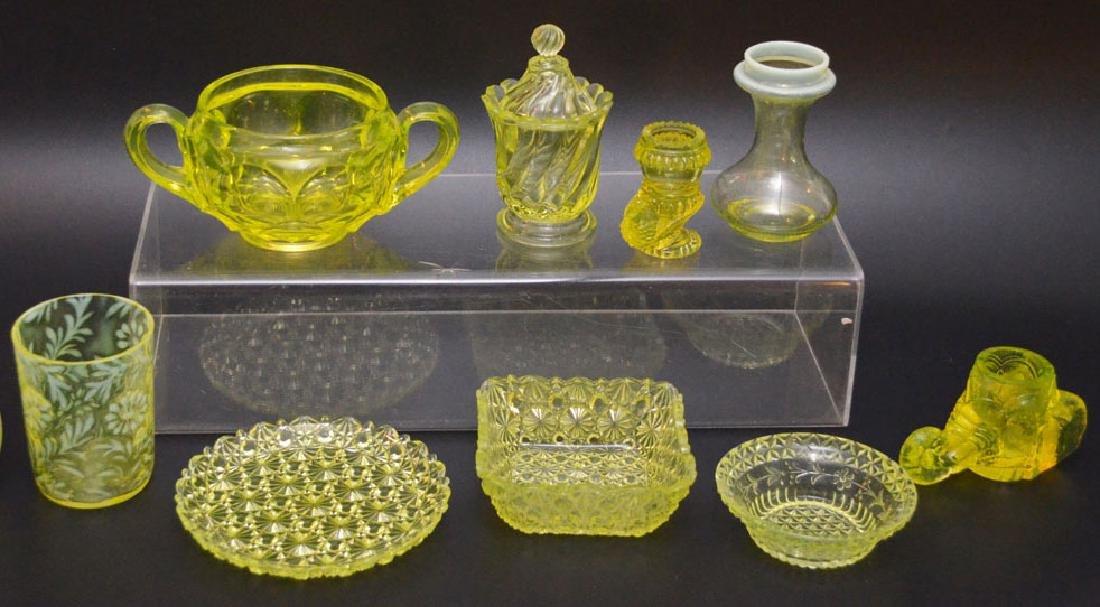 Vintage Vaseline Glass Accessories