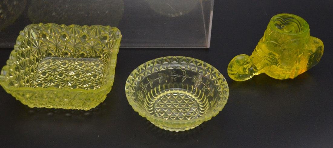 Vintage Vaseline Glass Accessories - 2