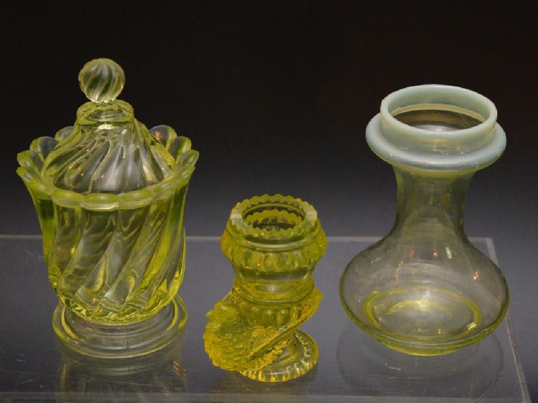 Vintage Vaseline Glass Accessories - 3