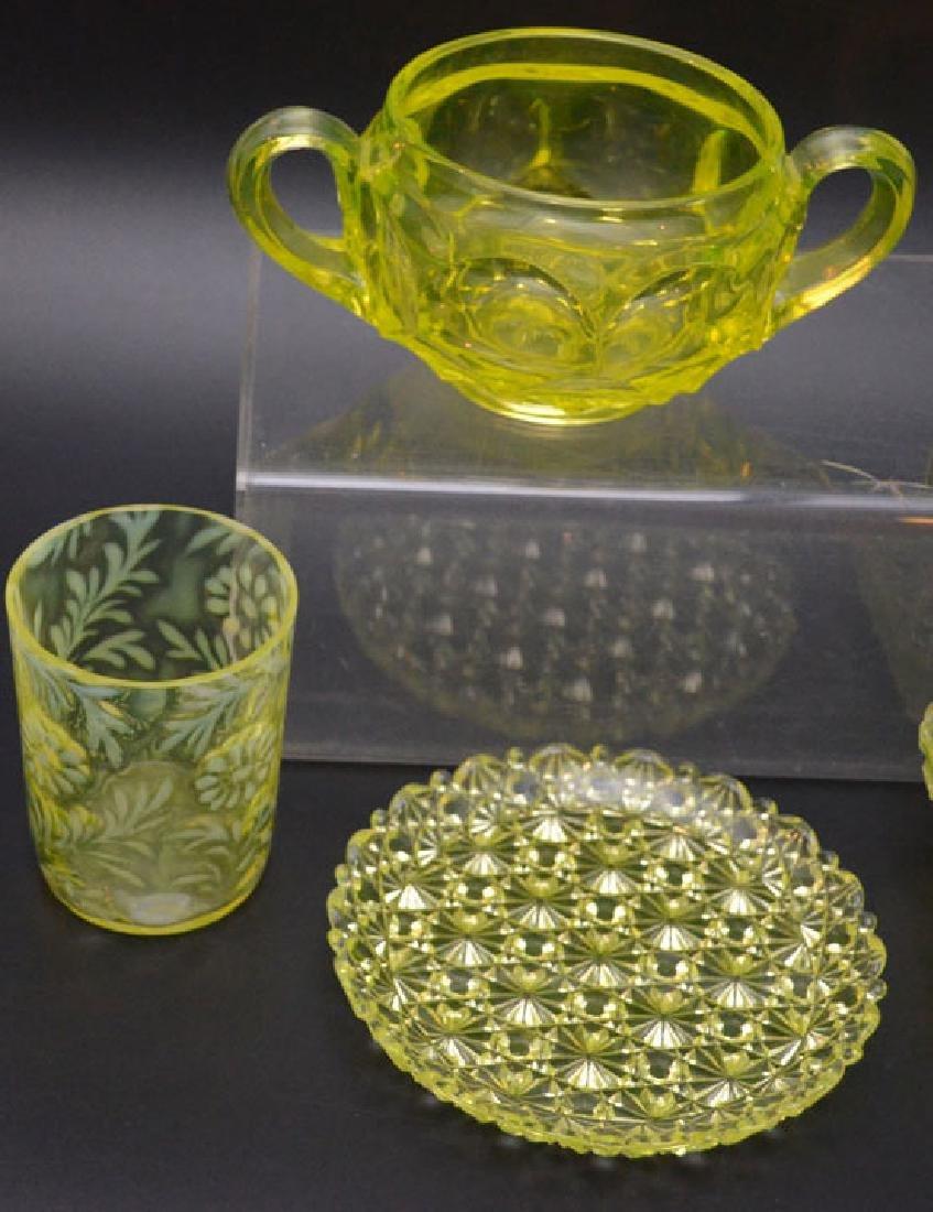 Vintage Vaseline Glass Accessories - 4