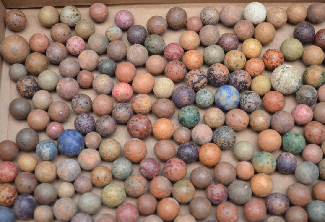 Large Lot Of Clay Marbles - 2