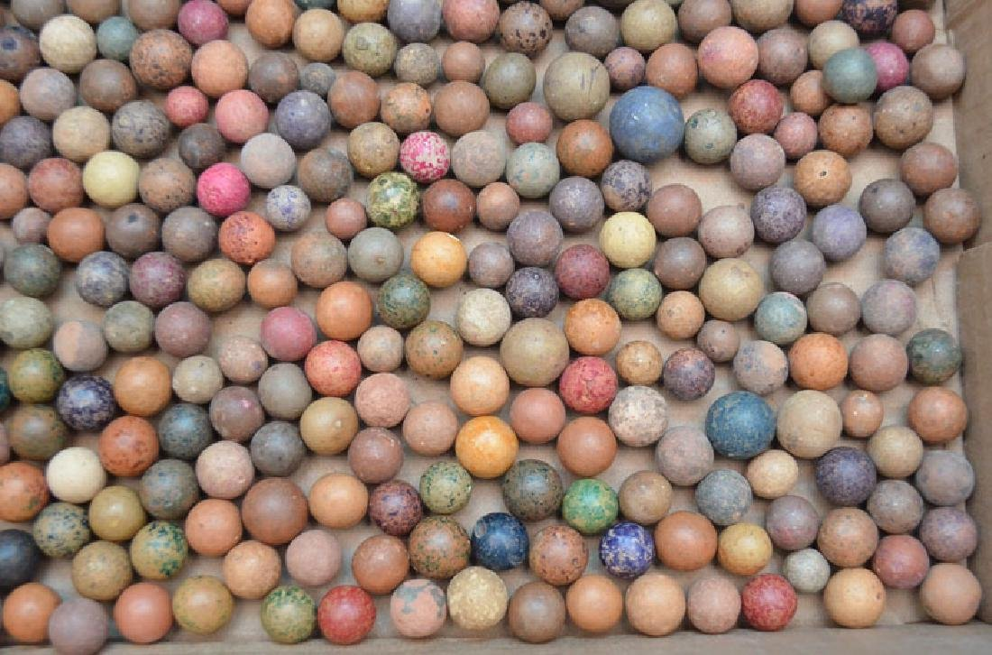 Large Lot Of Clay Marbles - 4