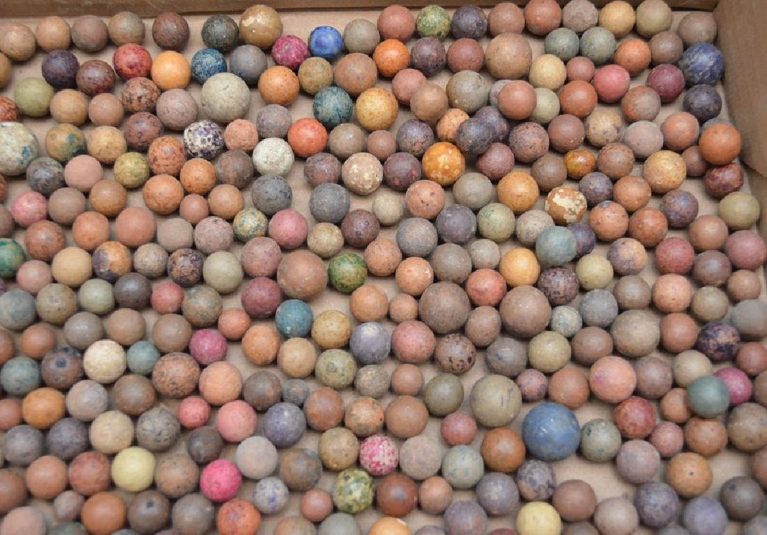 Large Lot Of Clay Marbles - 5