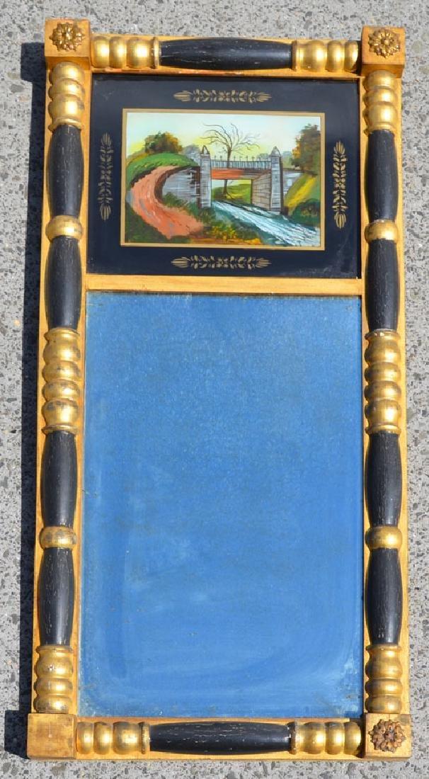 Antique Reverse Painted Eglomise Mirror