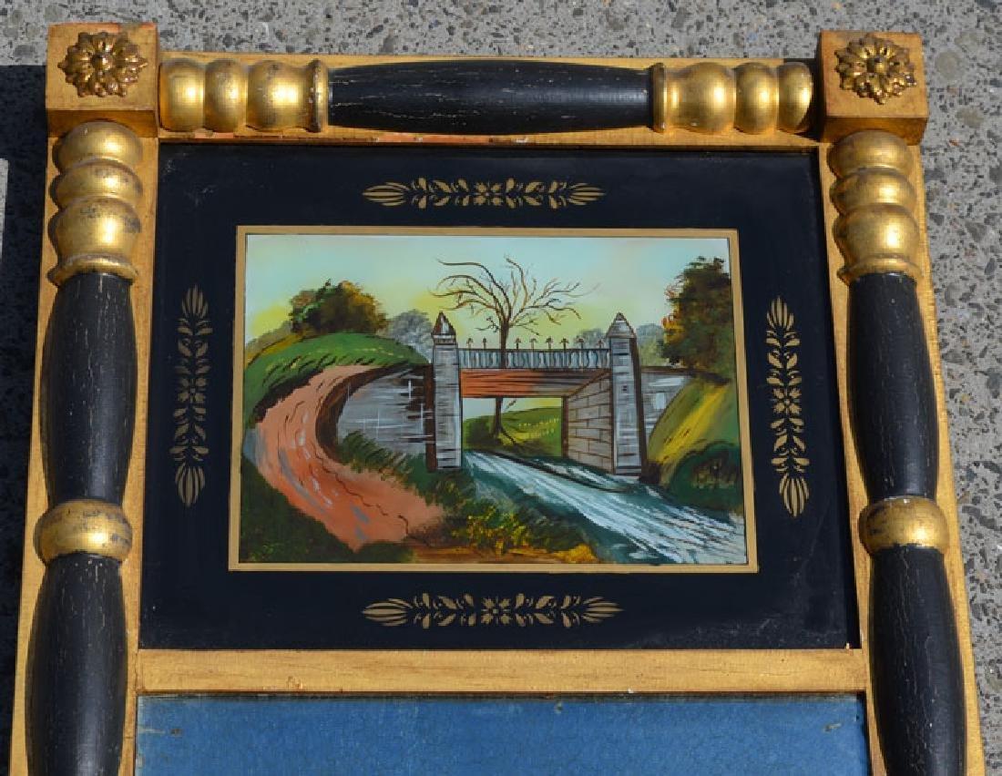 Antique Reverse Painted Eglomise Mirror - 2