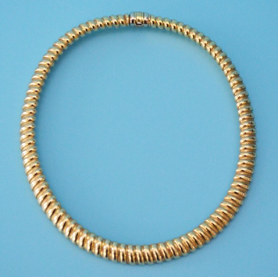 Bassani 18k Gold Choker Necklace