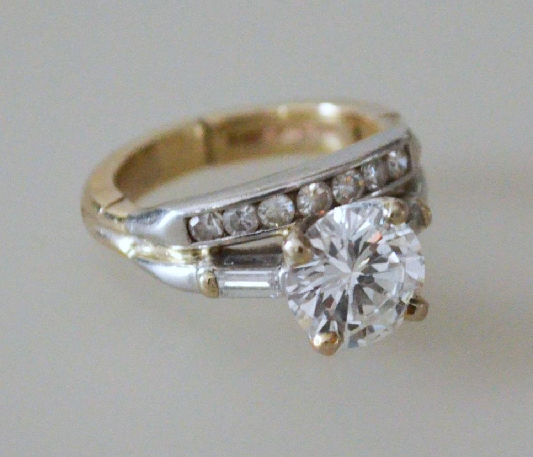 Classic & Chic 1.75 Ct Diamond Ring With Channel Set - 2
