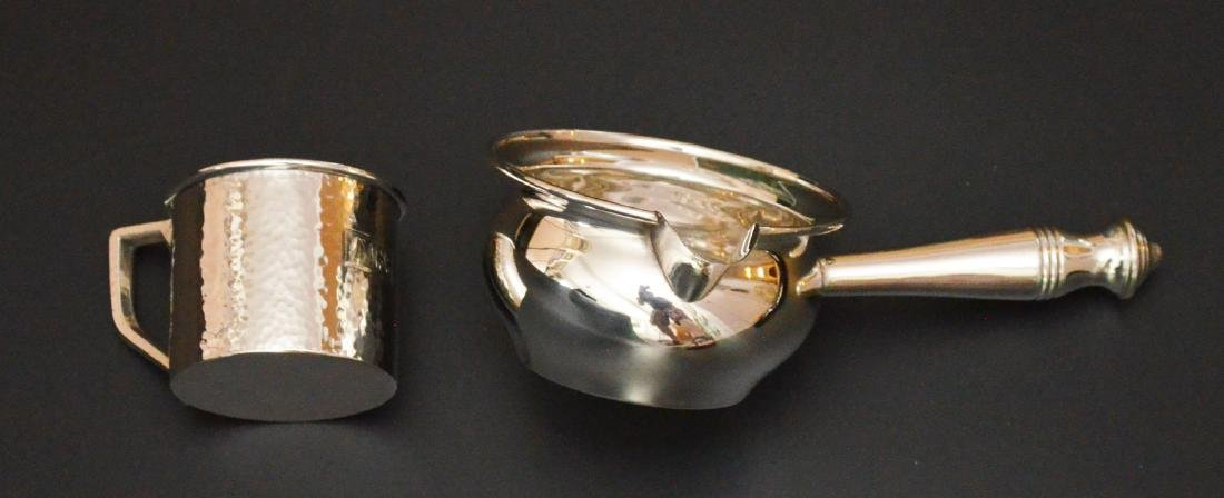Sterling Silver Spoons, Porringer, Mug & Serving - 3