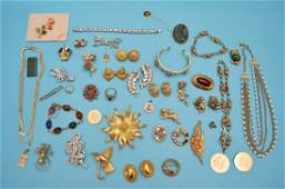 Lot Of Gold Tone Some Signed Vintage Costume Jewelry