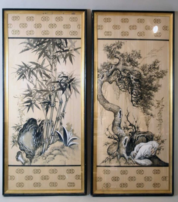 261: Pr of Chinese Signed Paintings On Silk
