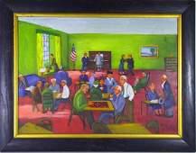 430: Whimsical O/B Painting Signed Lucille V. Lane