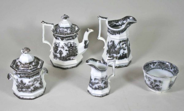 246: Mulberry Corean - Temple 5 Piece Tea Set