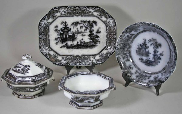 245: Lot of 4 Mulberry Corean Serving Pieces