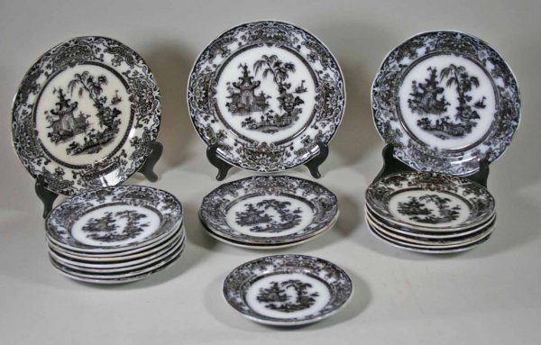 244: Lot of 18 Various Mulberry Corean Plates