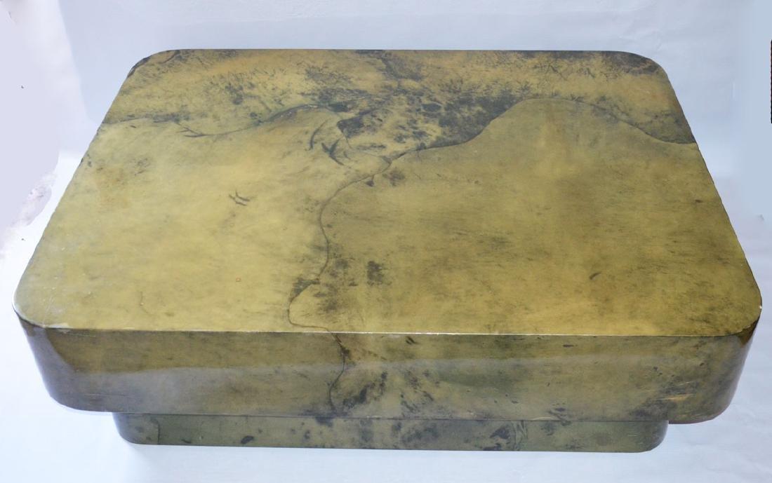 Karl Springer Marbleized Coffee Table