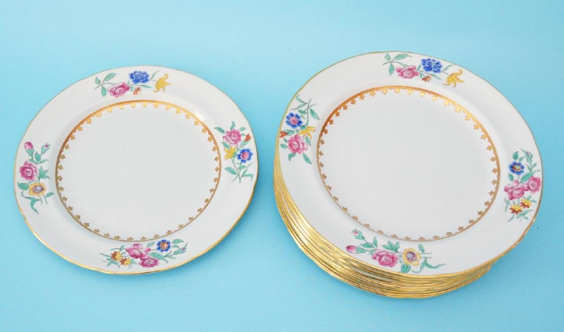 Set of 12 Copeland Spode for Tiffany Plates