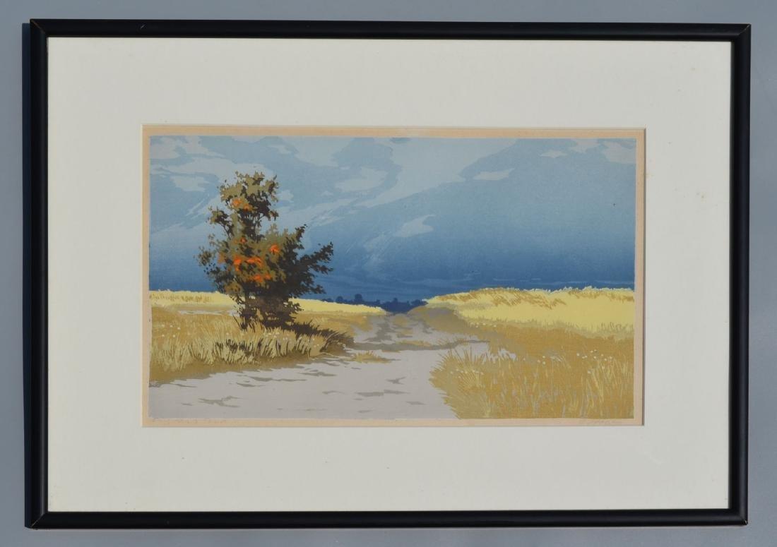 Oscar Droege Signed Woodblock Print