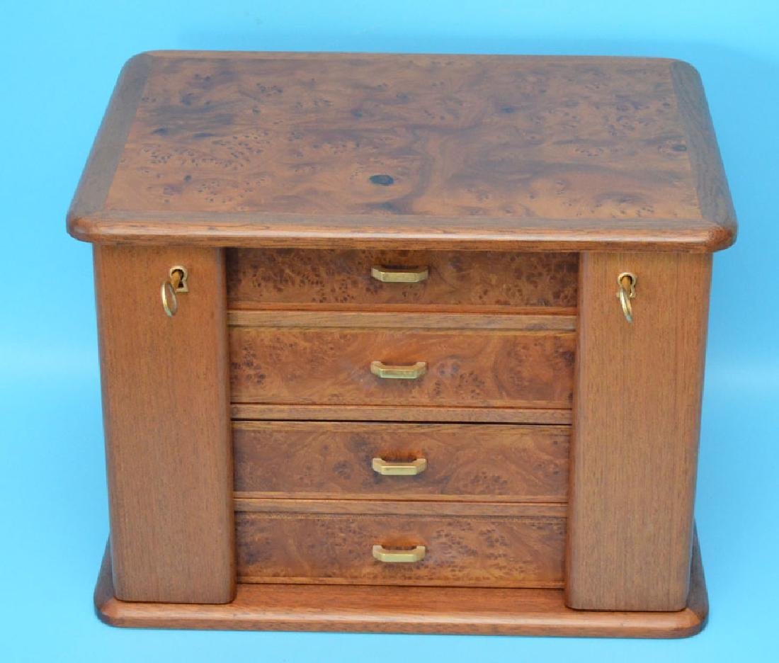 Fabulous Agresti Italy Style Burl 4 Drawer Jewelry Box