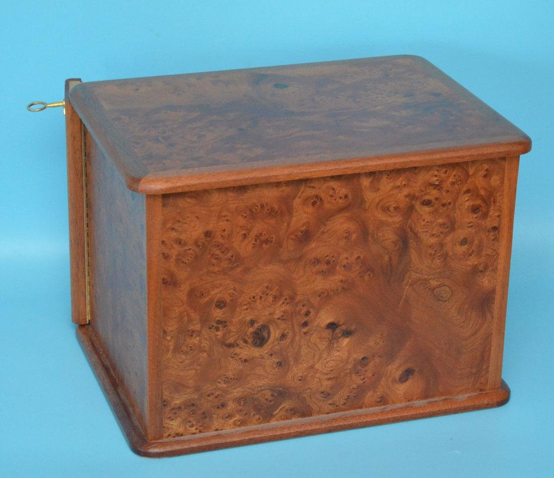 Fabulous Agresti Italy Style Burl 4 Drawer Jewelry Box - 4