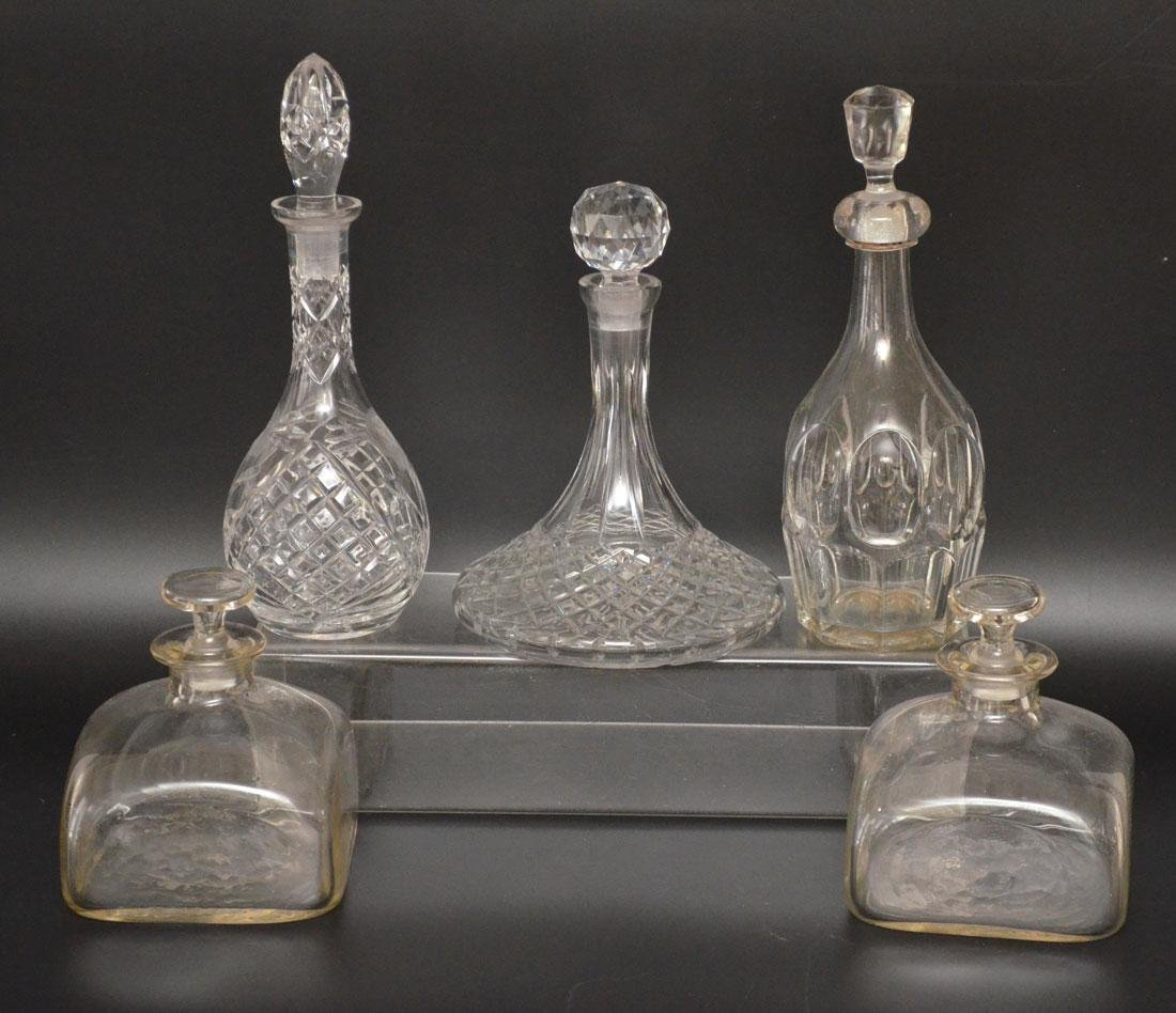 Lot Of  5 Nice Vintage Decanters