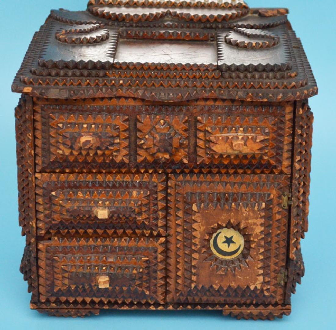 Antique Tramp Art Jewelry Box - 2