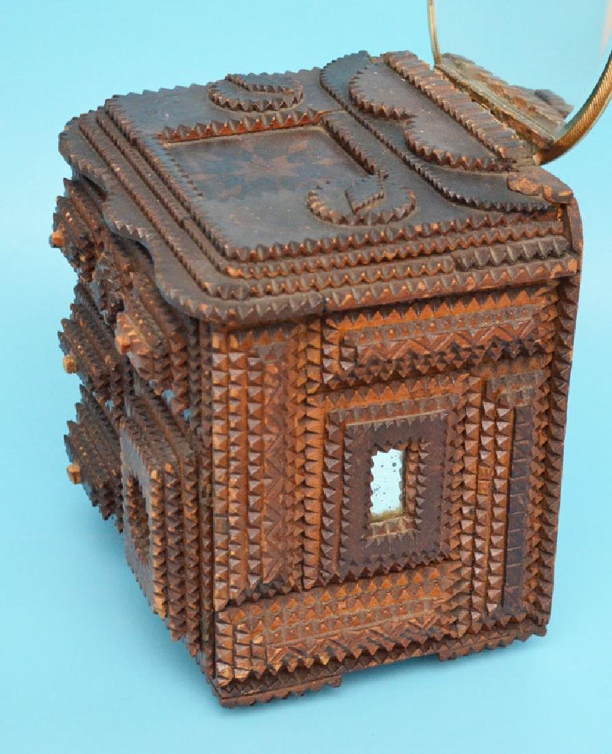 Antique Tramp Art Jewelry Box - 3