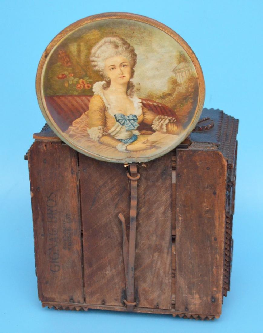 Antique Tramp Art Jewelry Box - 4