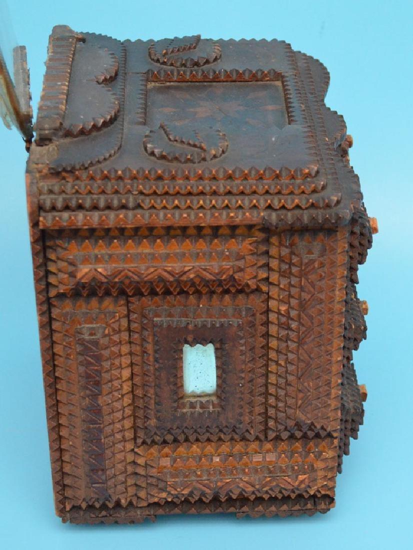 Antique Tramp Art Jewelry Box - 5