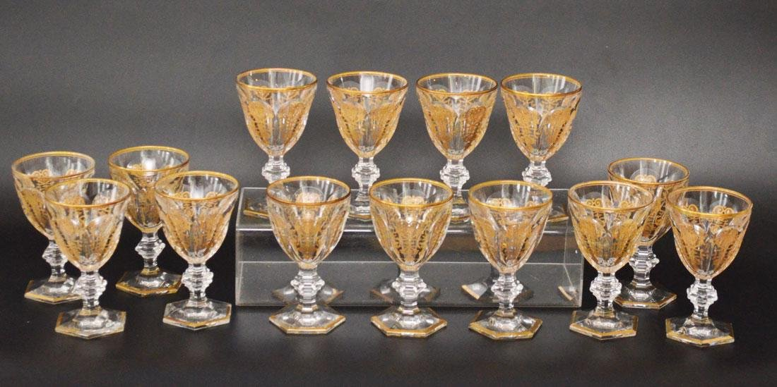 14 Harcourt Empire Baccarat  Glasses
