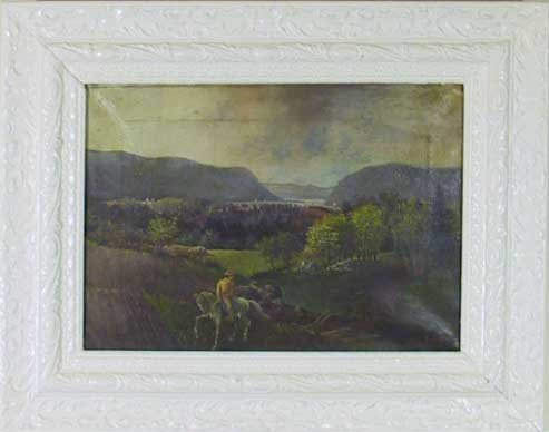 6: 19th C.O/C Hudson River Painting signed T. Hoven.