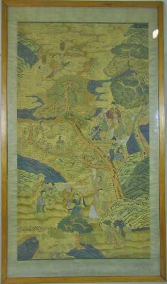 11: Huge 19trh Century Chinese Silk Kesi  (Figures)