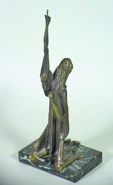 "12:  ""Jesus Kneel"" Hard To Find Sgnd Tom Bennett Bronze"