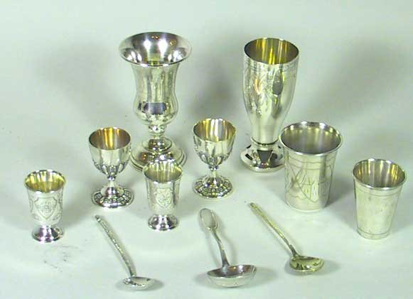 13: 11 Pieces Of Mostly Signed Russian Sterling Silver