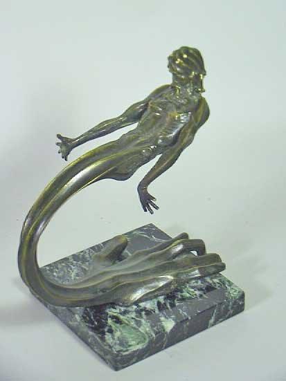 "14: Signed Tom Bennett Bronze Figure "" Jesus Hand Image"