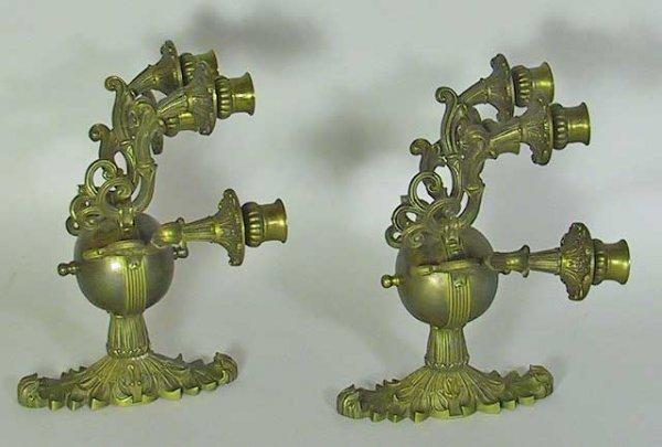 21: Stunning Pair Of Empire Bronze Ornate Sconces