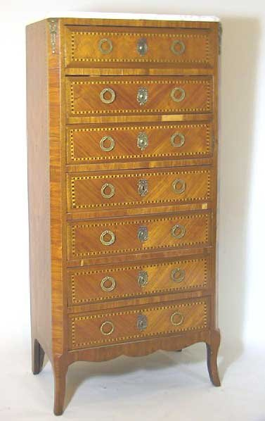 22: French Marble Top Lingerie Chest
