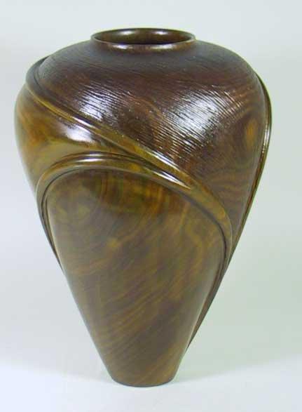 23: Important William Hunter Turned Wood Vase