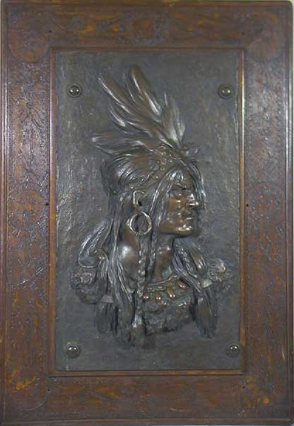 24: Rare 19th C. Signed Gorham Bronze American Indian