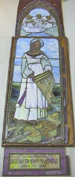 84: 19th C. Sgnd Jeweled Tiffany Glass Co. N.Y. Window