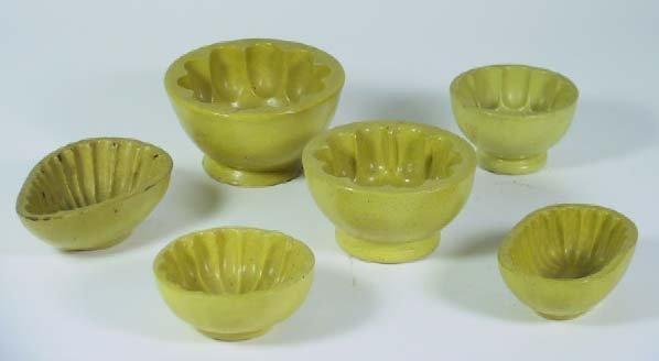 2: Six Vintage Yellow Ware Miniature Molds
