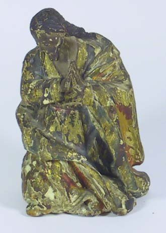 8: Early 19th C. Gold Gilt Wooden Statue Of Joseph