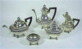15 Art Deco Figural Chinese Sterling Silver Tea Set