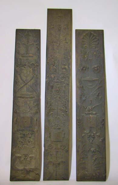 24:   3 Antique Ornately Carved Figural  Wood Panels