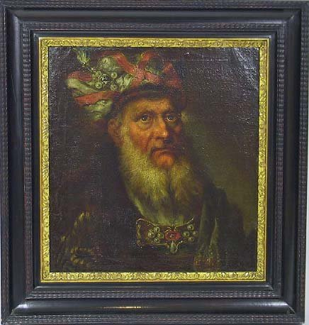 63: Old Master O/C Painting Of A Far Eastern Merchant