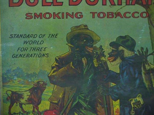 157: Old  Bull Durham Black Americana Tobacco Poster - 2
