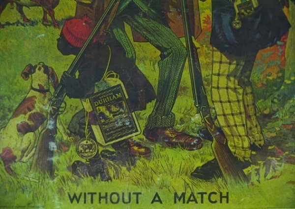 157: Old  Bull Durham Black Americana Tobacco Poster - 3