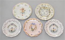 5 Pieces of French Faience Pottery