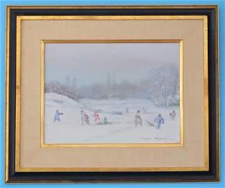 Johan Berthelsen Central Park Painting